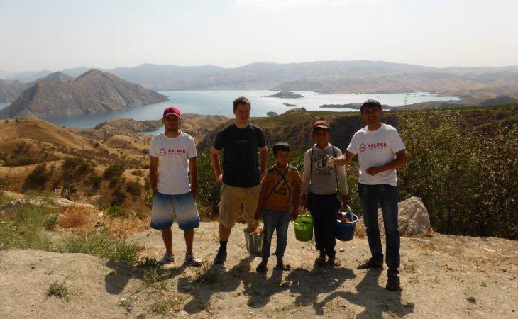 Kalpak team at Nurek, Tajikistan