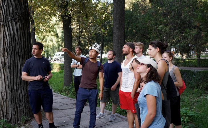 city tour guide in Bishkek in kyrgyzstan. central asia