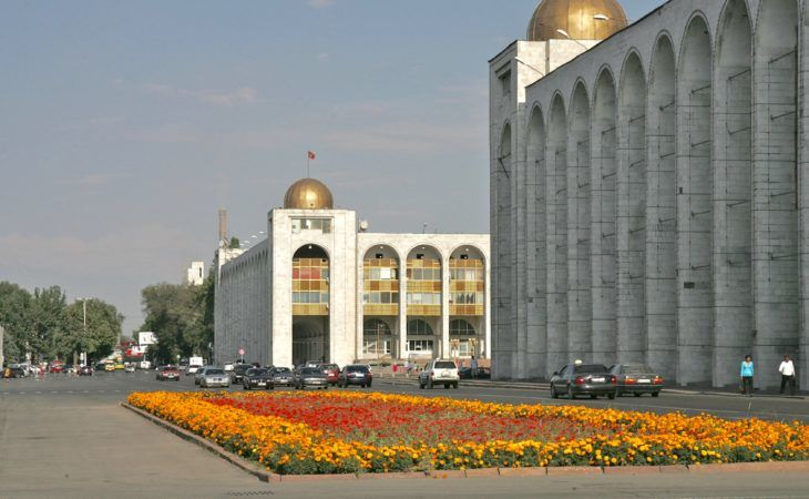 main square Ala-Too in Bishkek, the capital of Kyrgyzstan