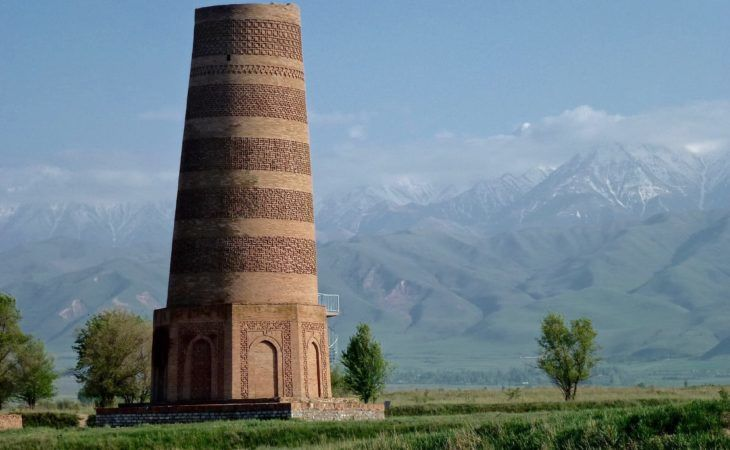 burana tower archeological complex in kyrgyzstan central asia
