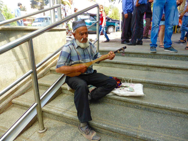 old men playing music instrument in Dushanbe, Tajikistan music