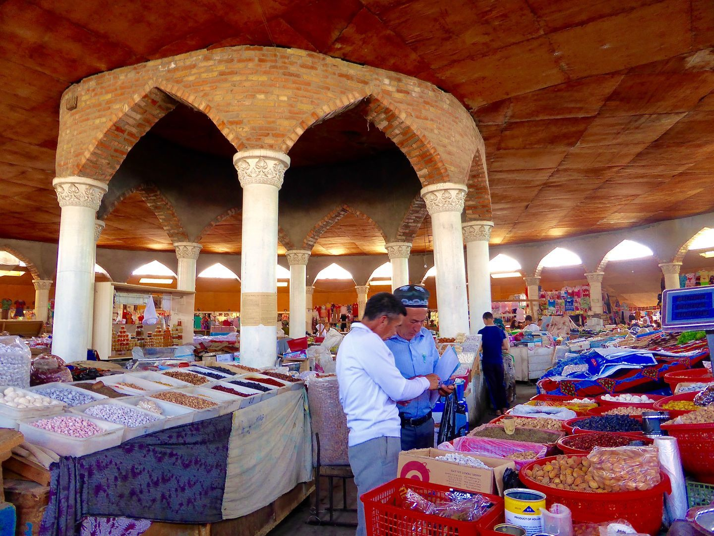 Penjikent Bazaar shopping during the best Fann Mountains Trekking tour in Tajikistan