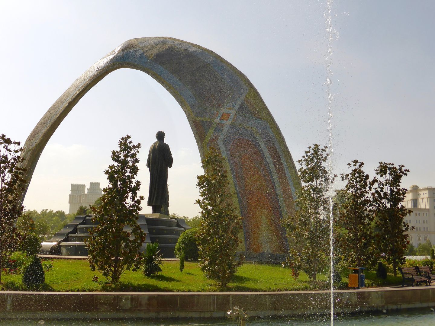 Rudaki Park in Dushanbe, favorite place of local population & highlight of tourism in tajikistan, central asia