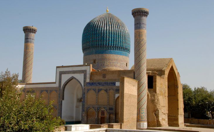 gur-emir mausoleum in samarkand, architectural sample of tj mahal