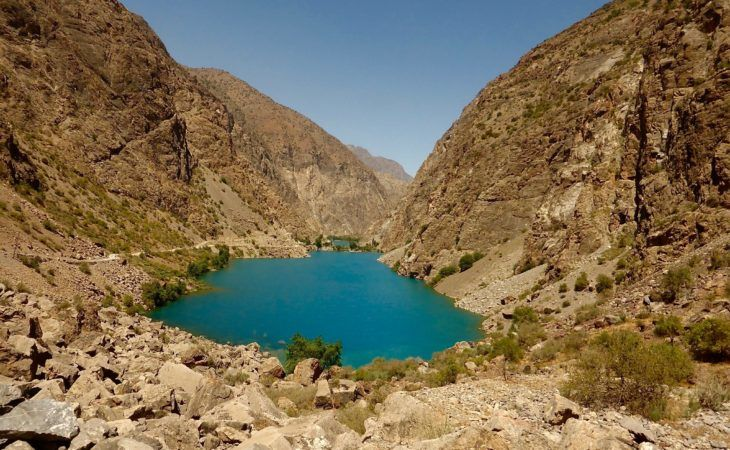 Seven lakes are important points of interest in Tajikistan. Central Asia