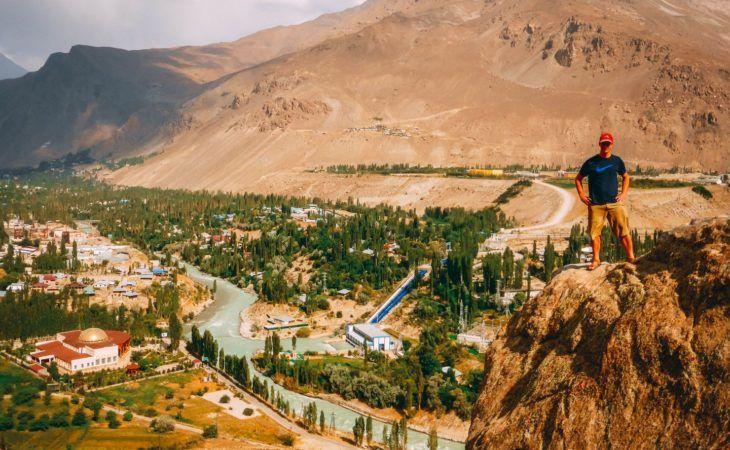 Khorog city view, Tajikistan