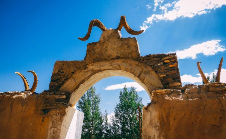 Tajikistan ancient shrines with horns