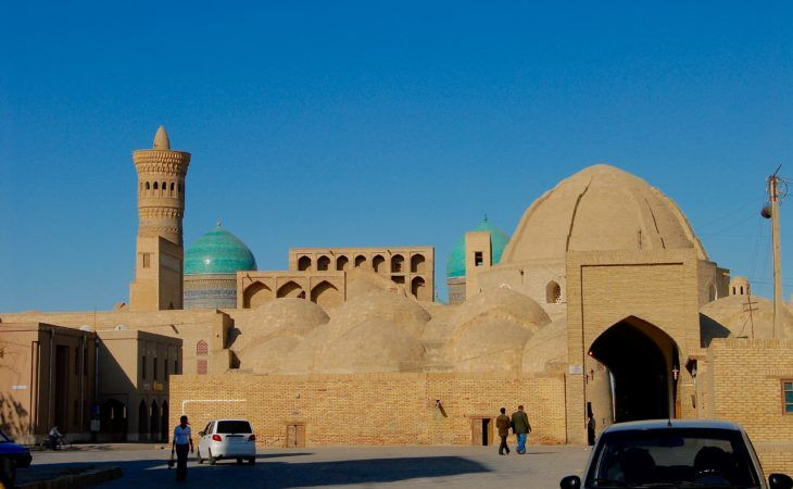 Bukhara domes and minaret, Uzbekistan, Best of Central Asia Tour