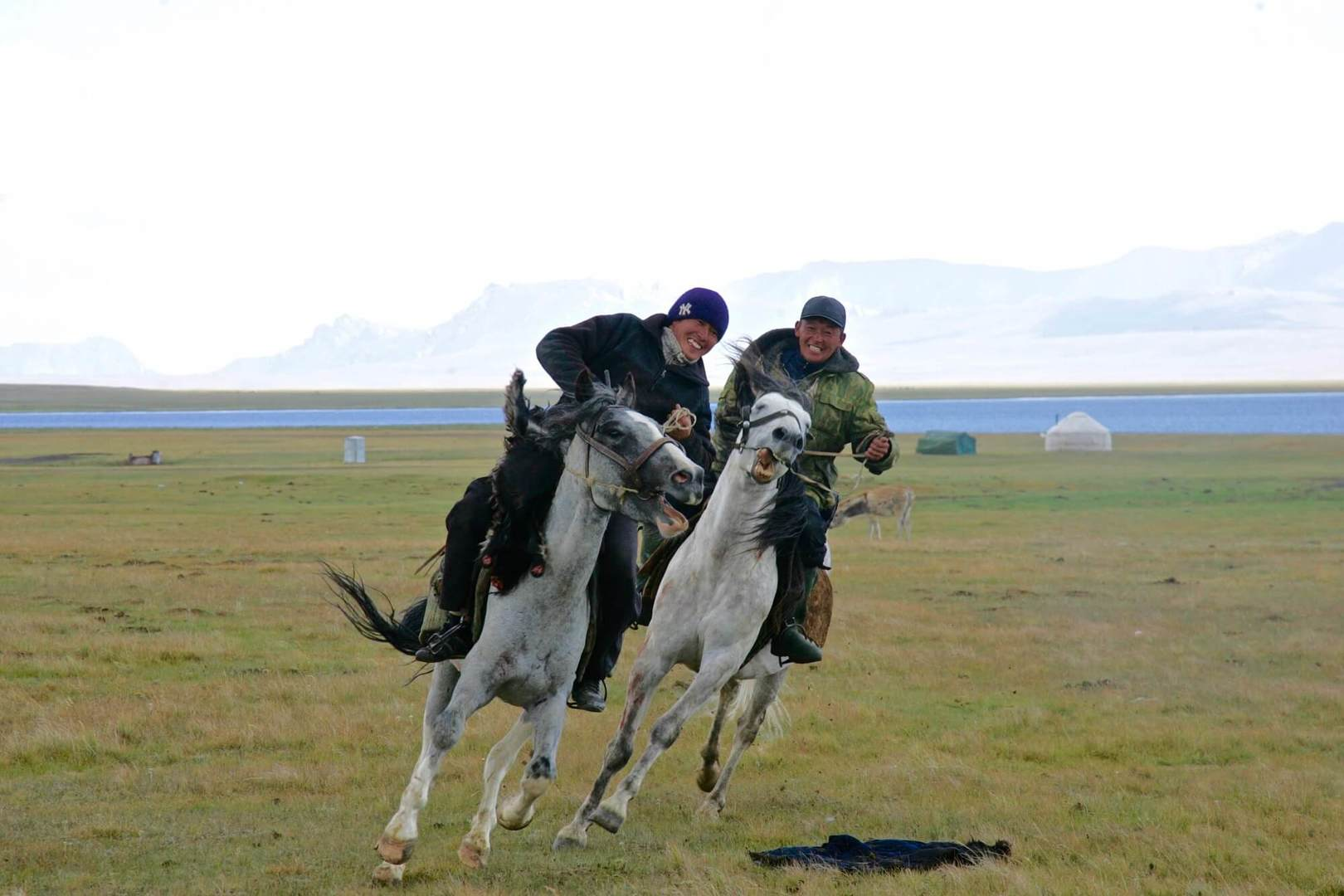 horse games and horse riding during Kyrgyzstan tour in summer