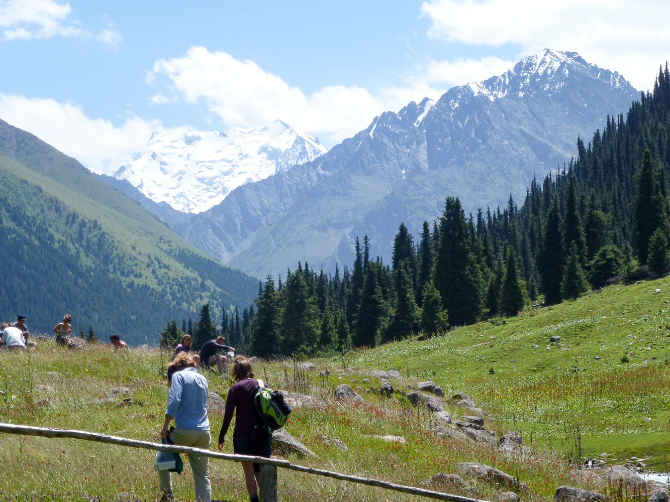 Trip to Altyn Arashan Valley during Kyrgyzstan Tour
