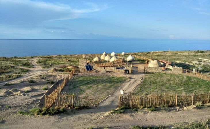 ayurt camp near issyk kul lake kyrgyzstan