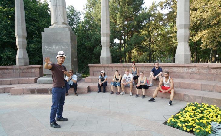 kyrgyz travel guide in bishkek during city tour