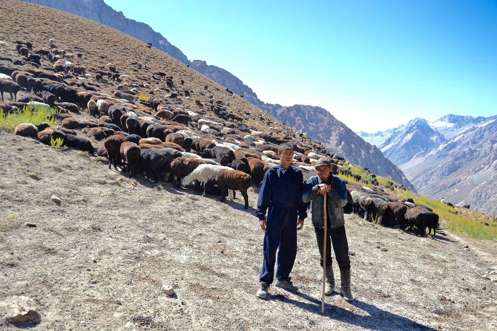 shepherds met at Fann mountains Trekking Tour in Tajikistan
