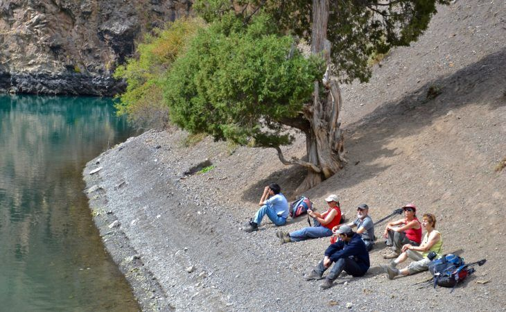 tajikistan people and tourists enjoying vacations in the fann mountains of central asia