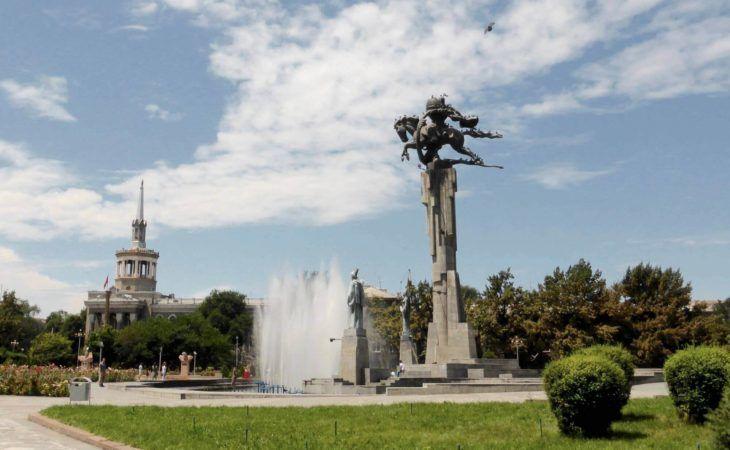 bishkek square in the capital of the Kyrgyz Republic