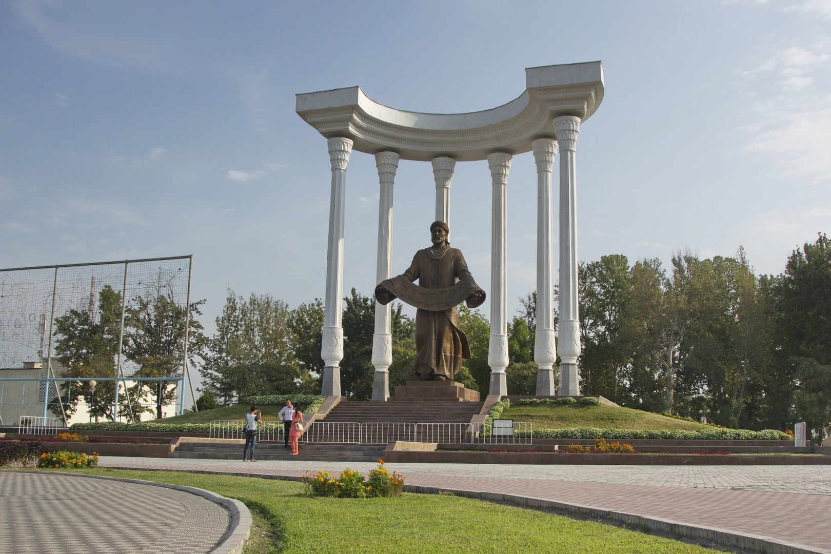 Statue in Ferghana city in Uzbekistan Tour