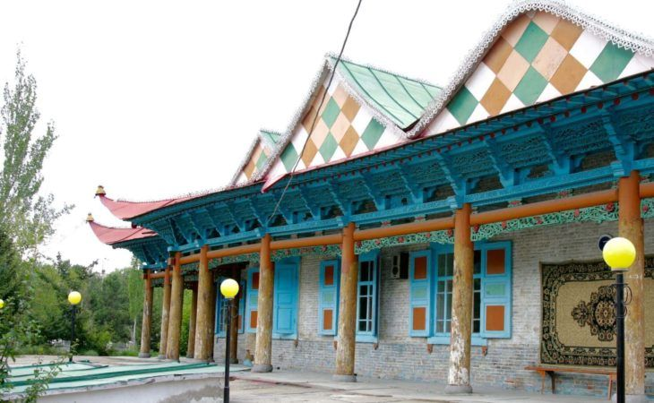 Wooden Dungan Mosque in Karakol in Best Central Asia Tour