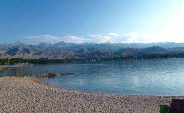 Issyk-kul mountain lake in Kyrgyzstan