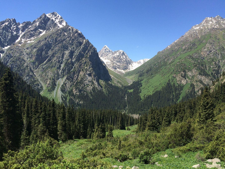 Mountain landscape during Kyrgyzstan & Kazakhstan Tour