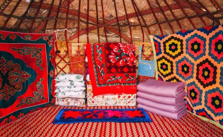 Look inside of Kyrgyz Yurt