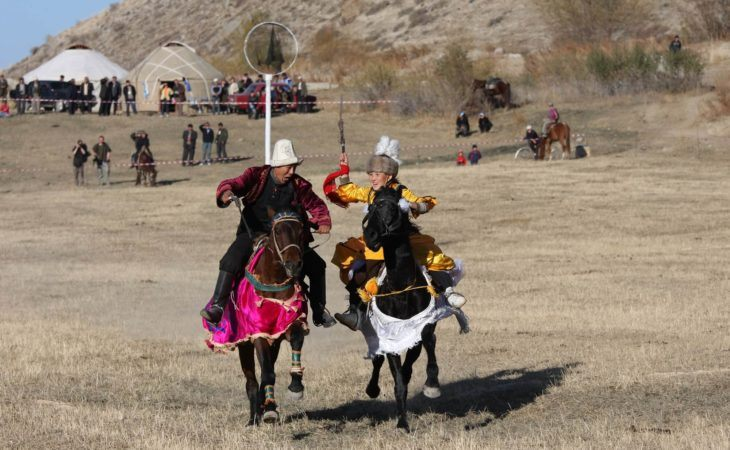 traditional horse games in hyppodrome, Bishkek