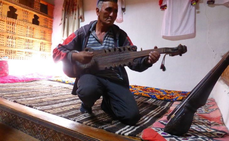 Tajikistan's music played with ancient instruments in Tajikistan & musician speaks unique language