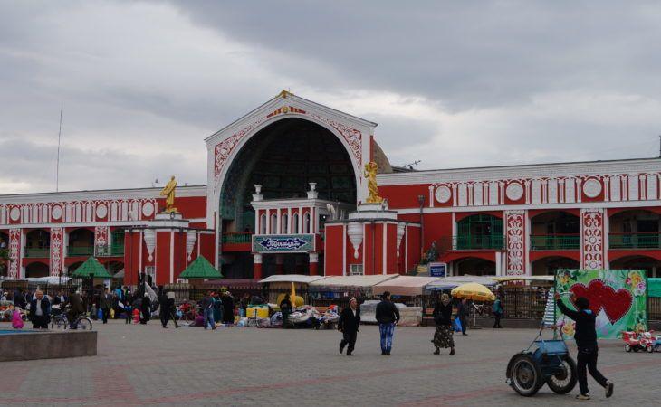 Panjshanbe bazaar in Khojend Tajikistan
