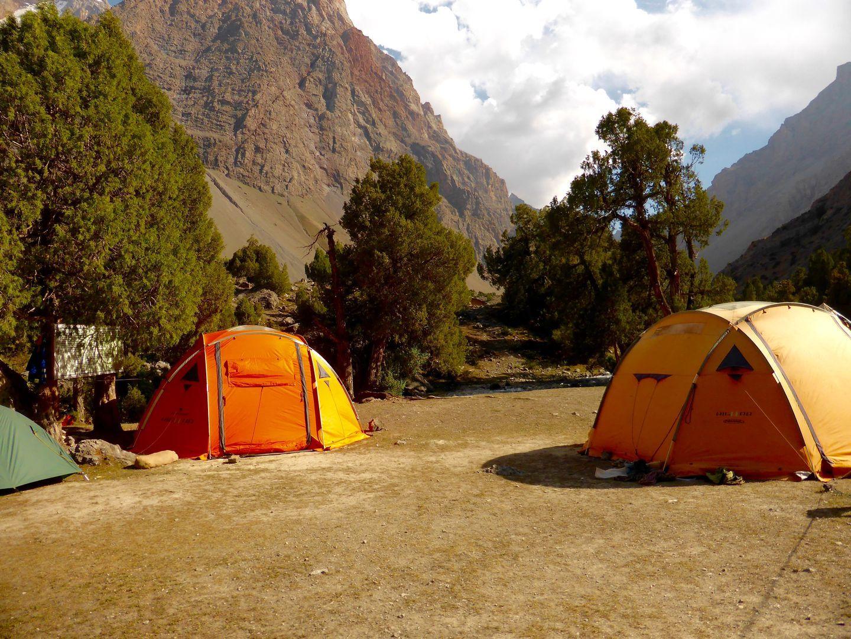 Tajikistan camping