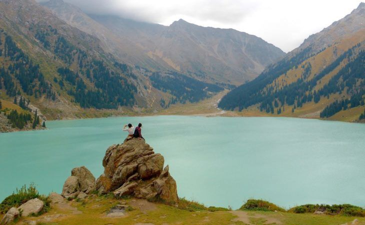 Big Almaty lake during Central Asian Silk Road Tour