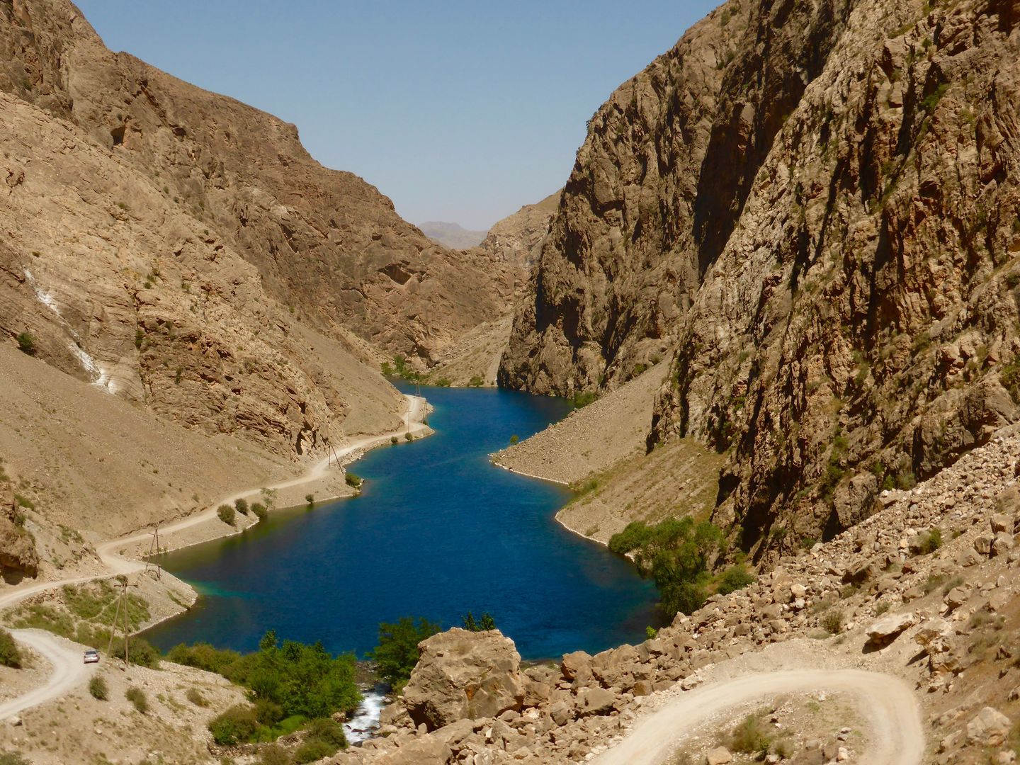 the Fann Mountains lake in Tajikistan, Best of Central Asia Tour