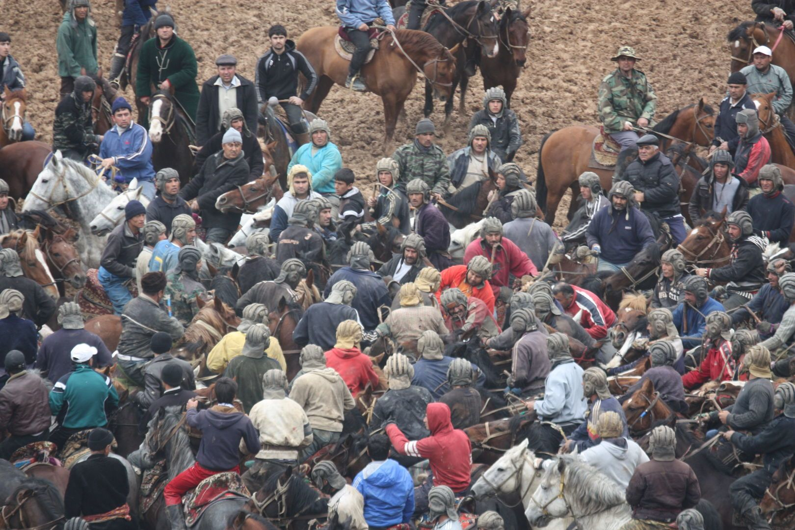 Central Asia festival, horse-game