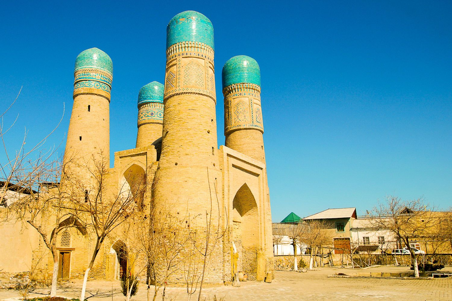 Chor Minor in Bukhara as seen in Central Asian Silk Road Tours
