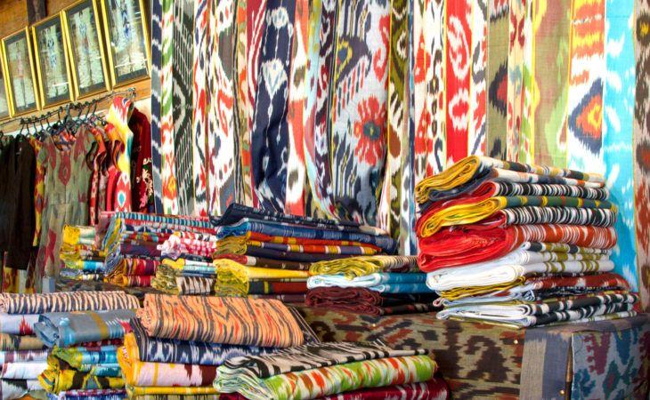 Silk Road Uzbekistan silk production, Uzbek textile