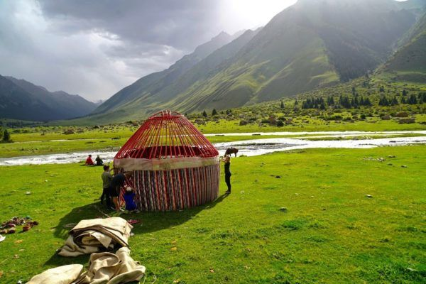 Best of Central Asia: yurt of nomads, Kyrgyzstan