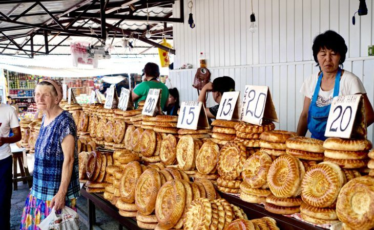 bread that can be found in all five capitals Central Asia