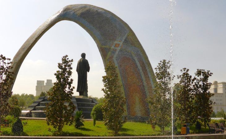 Rudaki park in Dushanbe, the capital of Tajikistan Best of Central Asia Tour