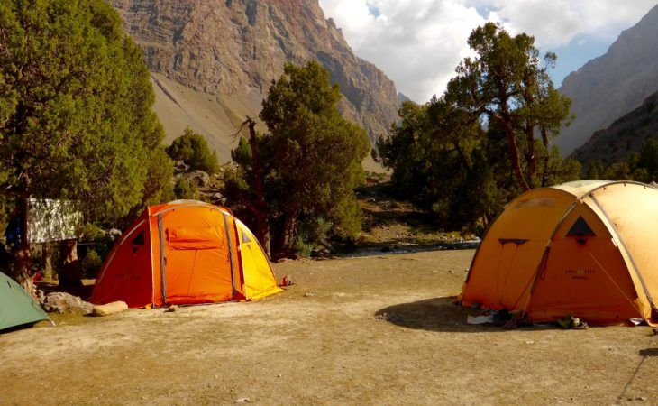 camping in the Fann mountains of Tajikistan is fun and cool