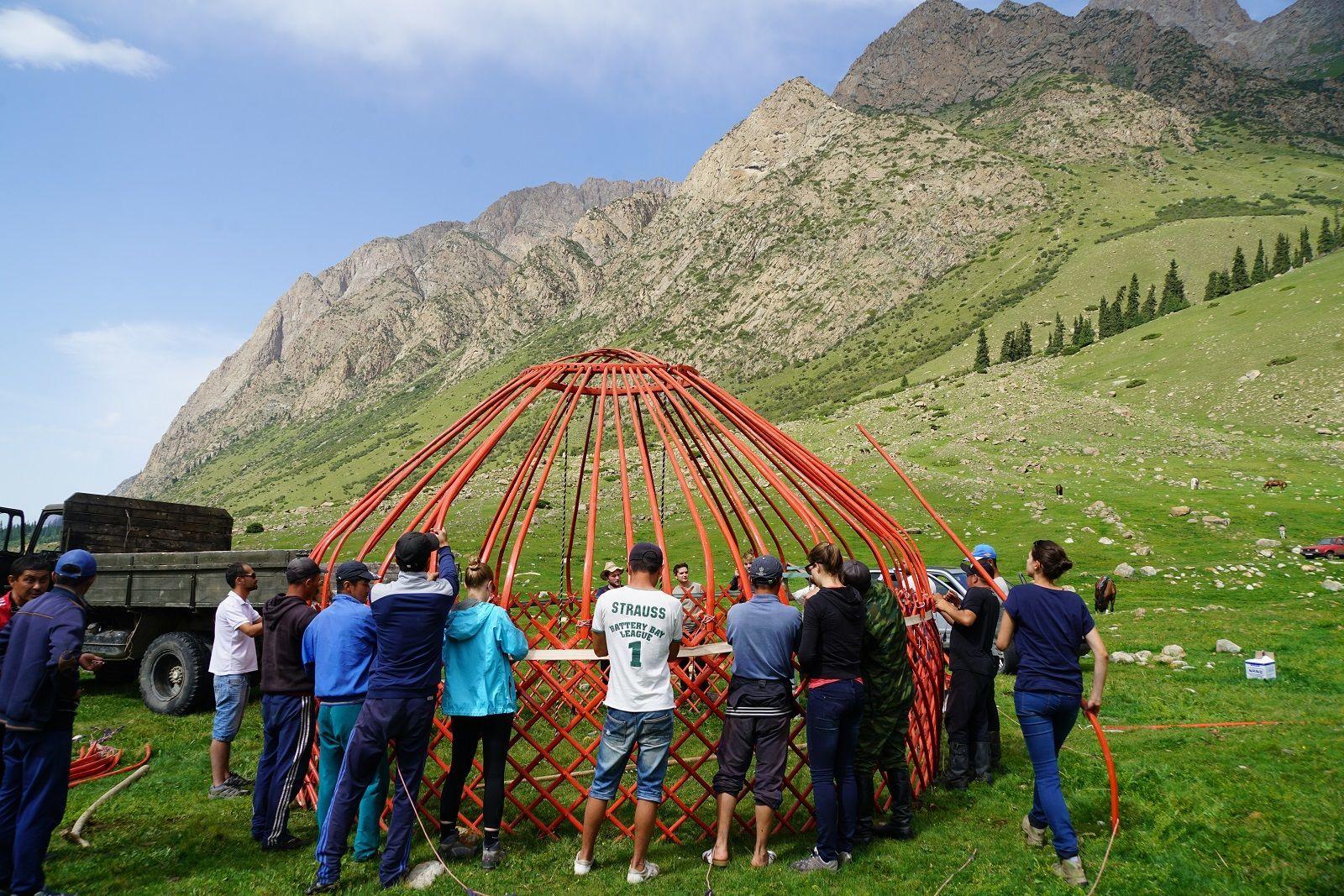 unusual team building activities yurt in kyrgyzstan