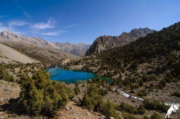Tajikistan trekking tour, Alauddin lake