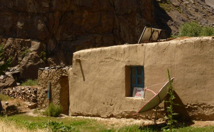 simple houses are used as Hotels in Jisew Valley, tajikistan and have long history of house construction