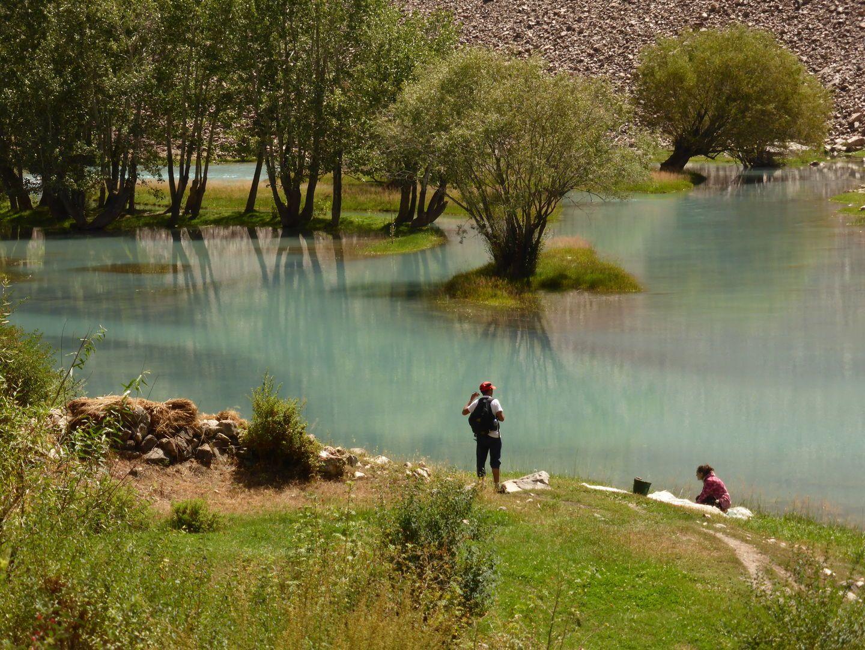 Jisew valley in Pamir Highway