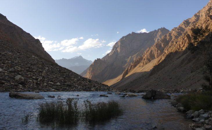 Pamir mountains during hiking tour
