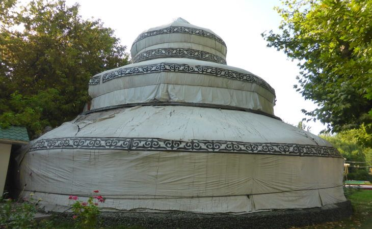 three storied Kyrgyz yurt in Osh, southern capital