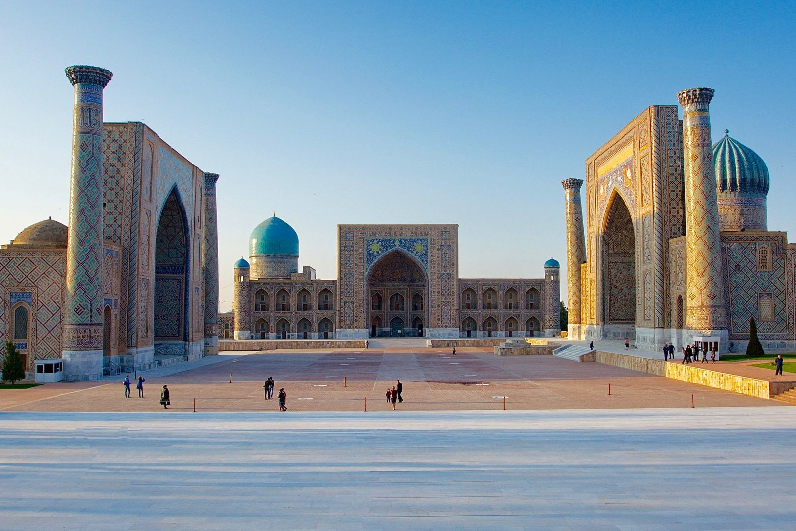 registan Square buildings in Uzbekistan Tour