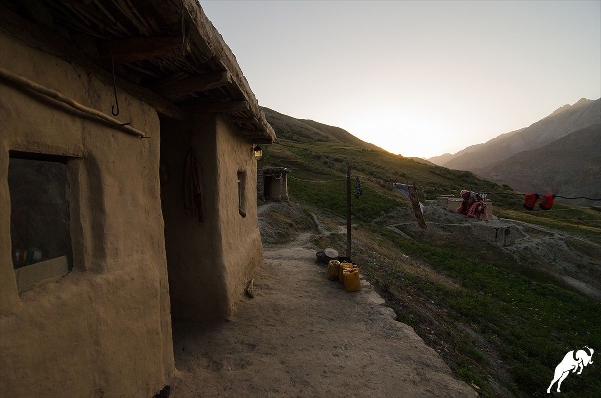 Trekking in Yagnob valley village in Tajikistan