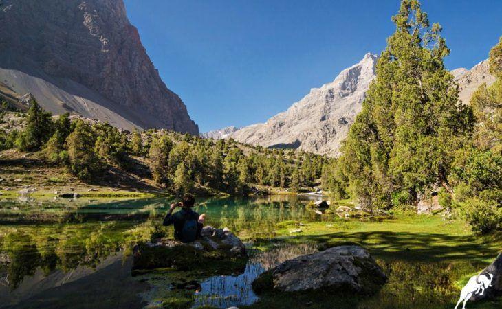 Alauddin Lake biking tour Tajikistan