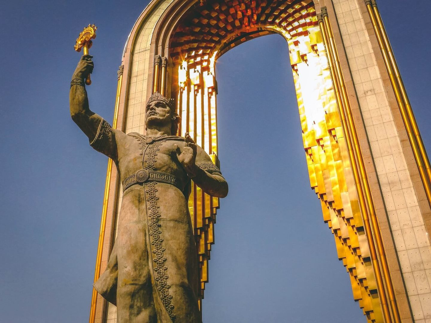 Best of Central Asia Tour - Somoni Monument in Dushanbe