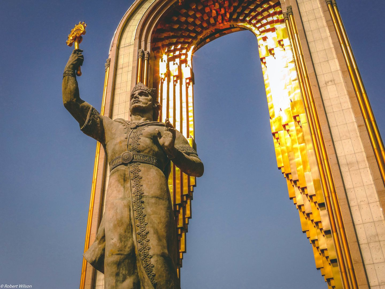 Ismail Somoni Monument in Duschanbe, Tadschikistan