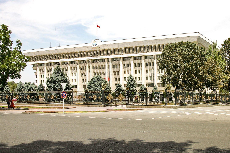white house in Bishkek City Tour, Kyrgyzstan