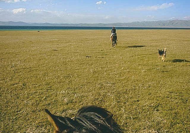 Horse Riding in Kyrgyzstan at Song Kul Lake